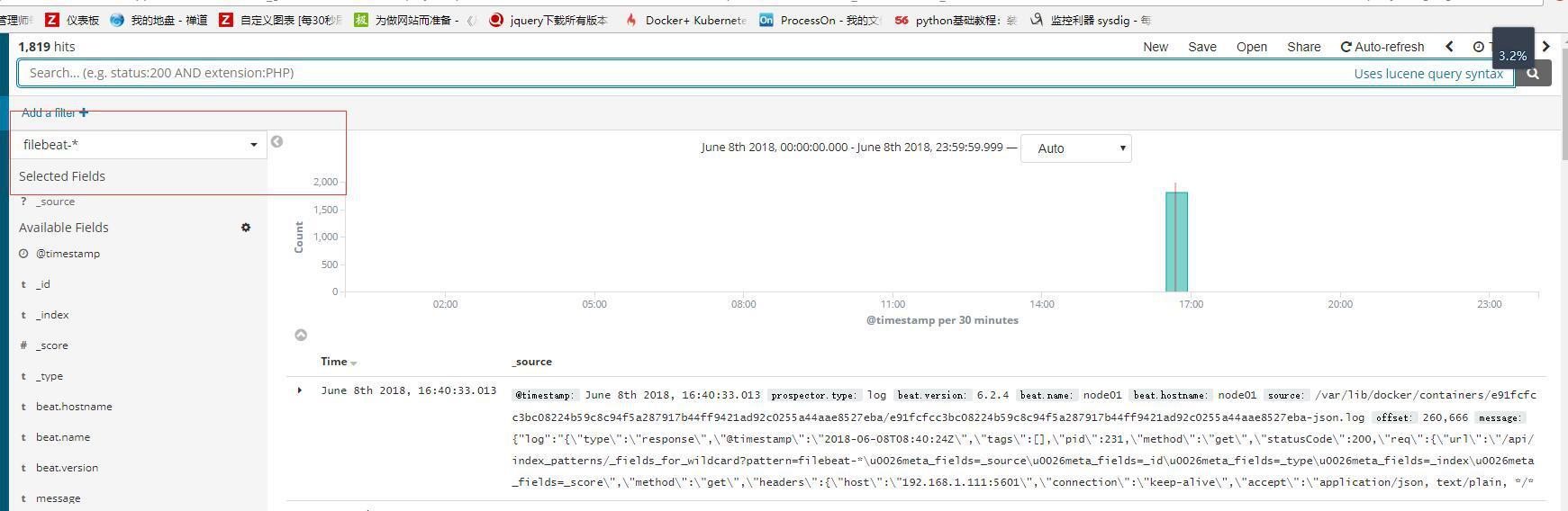 Docker 部署ELK 日志分析-腾讯云资讯