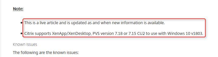 Windows 10 1803 OS升级与Citrix VDA 7 15 LTSR兼容性问题-腾讯云资讯