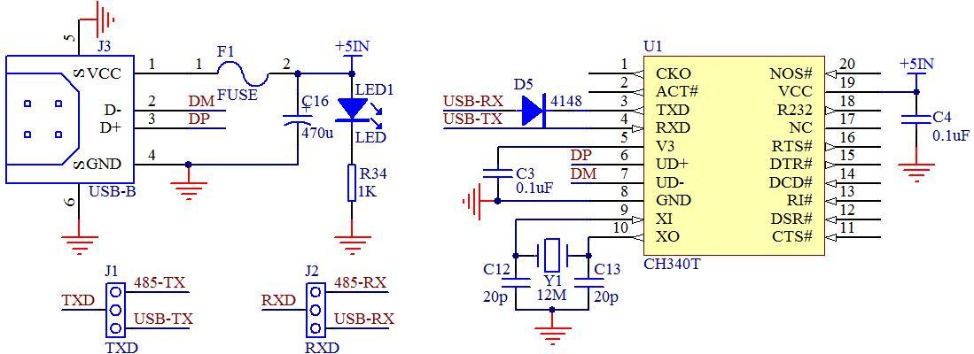 11-5 usb 转串口电路