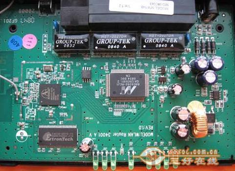 图解水星mw54r无线路由器内部细节
